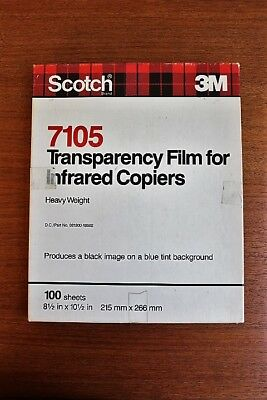 Scotch 3M 7105 Transparency Film for Infrared Copiers - Heavy Weight