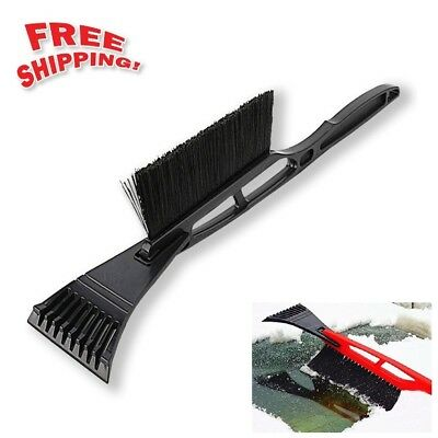 "Car Auto Snow Brush Windshield Ice Scraper Frost Cleaner 17"" Long Handle"