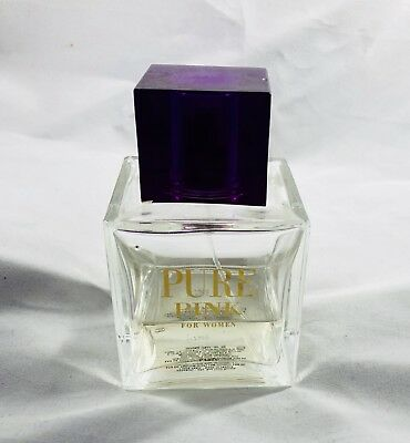 PURE PINK PERFUME FOR WOMEN BY KAREN LOW 3.4 OZ / 100 ML EDP SPRAY 40% full