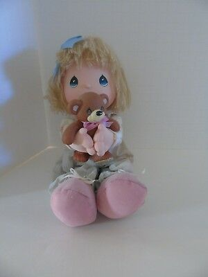 Vintage 1986 Applause Precious Moments I Love You Doll with Bear Collection