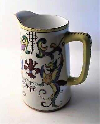 Antique Noritake Porcelain Hand Painted Pitcher- Signed