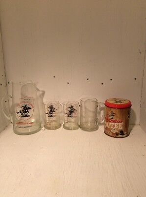 Lot of Winchester advertising Items Picture Glasses Coffee