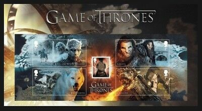 Gb 2018 Game Of Thrones Films Sci Fi Character Stamp Sheet Mnh