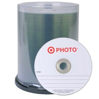 Target Photo 52x 700MB 80-Minute CD-R Media 100-Piece Spindle