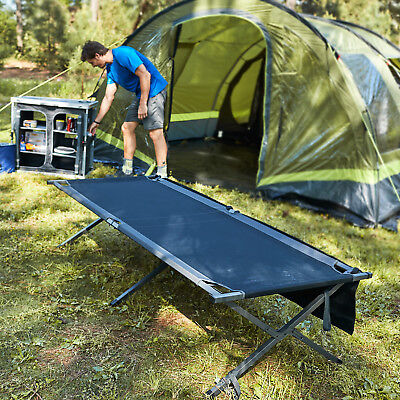 PORTAL Heavy Duty Folding Portable Camping Military Cot Outdoor Fold Up Bed New