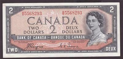 1954 Canada $2 Two Dollar Devils Face banknote BC-30a B/B5568293 CH UNC63+