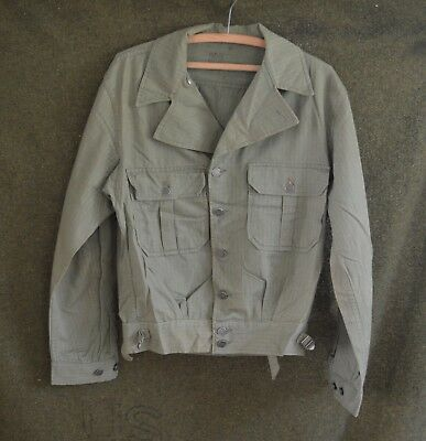 Vintage HBT  WWII era US Army jacket 38R, 1940's, 13 star buttons