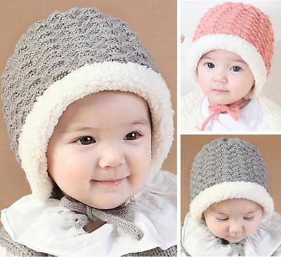 Winter Warm Baby Newborn Toddler Knitted Woolen Hat Cap Beanie Bonnet Headwear
