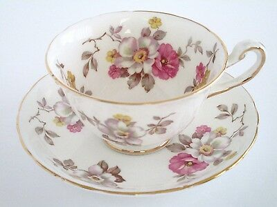 Royal Chelsea England Bone China Tea Cup and Saucer Set, Vintage