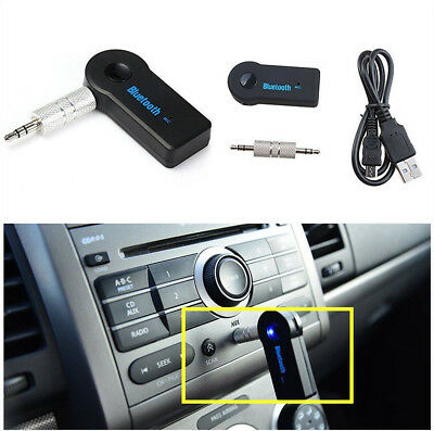 Mini Bluetooth 3.5mm Wireless USB Aux Stereo Audio Music Car Adapter Receiver