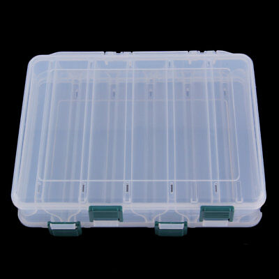 12 Compartment Double Sided Fishing Lures Tackle Hooks Baits Case Storage Box GT