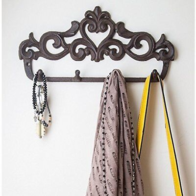 Decorative Cast Iron Wall Hook Rack Vintage Design Hanger With Hooks For Coats