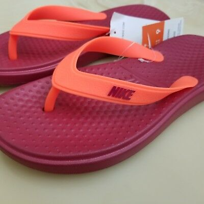 5b16127aeab1 Nike Solay Thong Men s Flip Flop Sandals Size 9 Style 882690-600 Noble Red