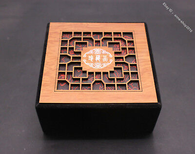 10cm  Advanced Silk Wood Handmade Jewelry Pendant Necklace Ring Box Boxes JH