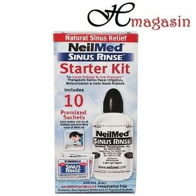 NeilMed Sinus Rinse Starter Kit With Bottle + 10 Premixed Sachets