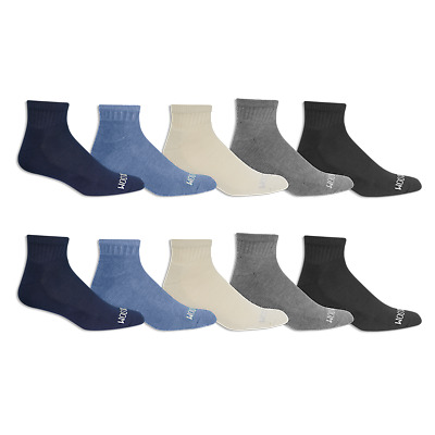 Fruit of the Loom Mens Assorted Cushioned Ankle Socks 10 Pair