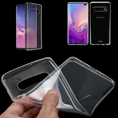 Ultrathin Clear Silicone Soft TPU Case Cover For Samsung Galaxy S10 Plus