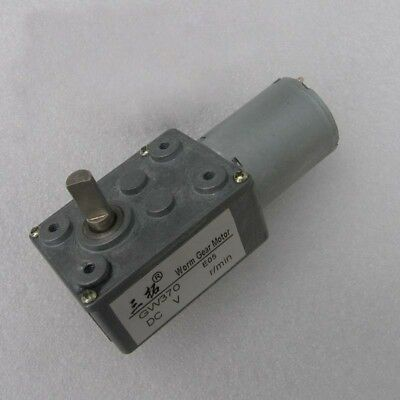 1pcs GW370 DC 3V/6V/12V/24V High Torque Turbo Worm Gear Reducer Motor 0.6-180RPM