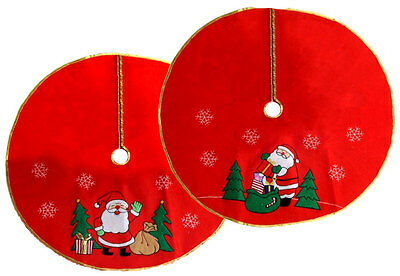 Large Santa Claus Father Christmas Tree Skirt Base Floor Stand Cover 90CM NEW