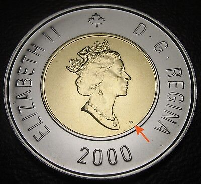 RCM - 2000-w - $2 / Toonie - Polar Bear - Proof Like - Uncirculated