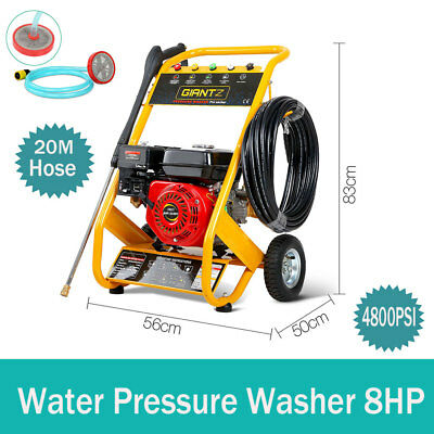 8HP 4800PSI High Pressure Washer Cleaner Petrol Water Gurney 20M Hose Large 3.6L
