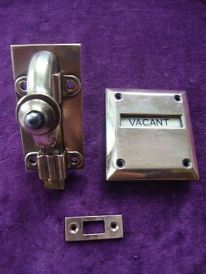 Lovely design antique vacant engaged toilet lock bolt