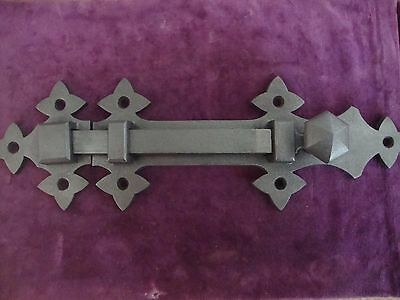 "Superb Quality very large Kendrick no 2"" Gothic door bolt with keep"