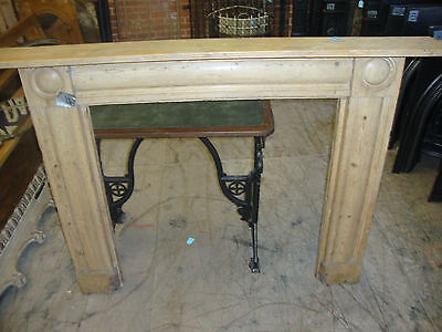 Large Victorian georgian style pine fire surround