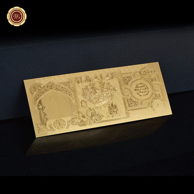 WR Gold Iraq Banknote 25,000 Dinar Bill Note Uncirculated Middle East Collection