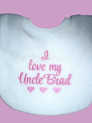 Personalised Baby Bib  Custom Message Bib  Great Baby Gift Made To Order
