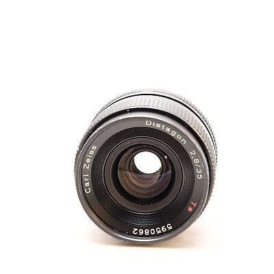 Contax Carl Zeiss Distagon T* 2.8/35mm Wide Angle Lens C/Y Digital SLR Camera