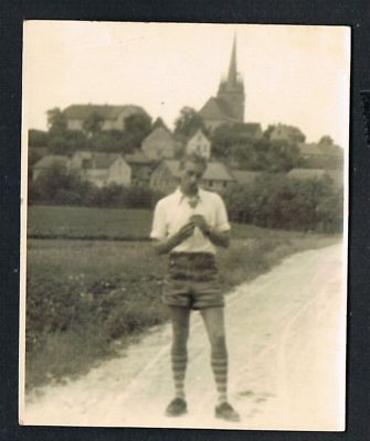 FOTO vintage PHOTO, Lederhose, kurze Hose, shorts, leather pants, /135c