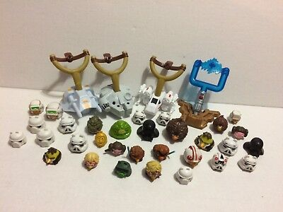 Huge Lot of Angry Birds Star Wars Telepods (31 Total) & Launchers (4 total)