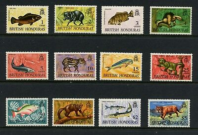 British Honduras 1968  #214-25   fish fauna definitives  12v.   MNH  L656
