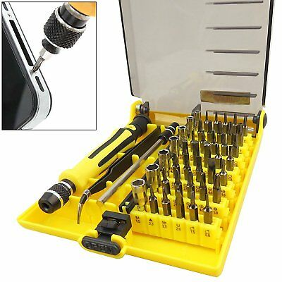 45pc in 1 Precision Hex Torx Mini Star Screwdriver Bit Set Phone Repair Tool Kit