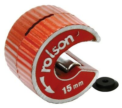 Rolson Rotary 15mm Copper Pipe Tube Cutter+Spare Cutting Wheel Self Locking