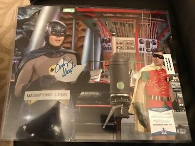 ADAM WEST BURT WARD Autographed Signed Auto Photo 16x20 Batman Robin Beckett COA