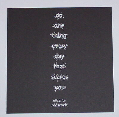 Do one thing everyday -Quotation Blank Card