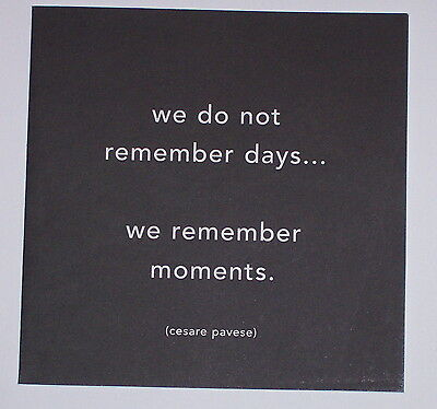 We remember moments - Quotation Blank Card