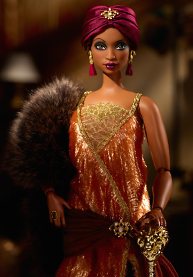 Harlem Theatre Gold Label Barbie Madame LaVinia Barbie Doll With Fur Stole