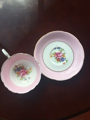Vintage Pink Rose Tea Cup and Saucer, Royal Grafton English Bone China Teacup
