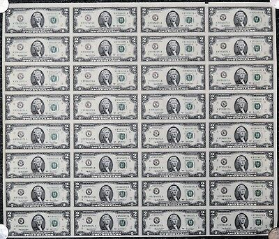 Series 2003 A Sheet of 32 Two Dollar FRN $2