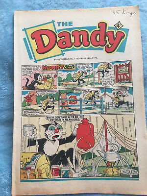 Dandy Comic No 1482 April 18th 1970 Vintage UK Korky the Cat, Desperate Dan