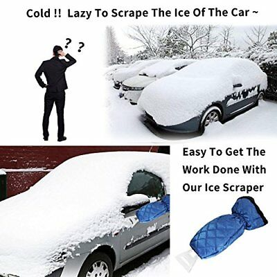 Ice Scraper Mitt Snow Tool Car Truck Blue Icing Blade Glove Kits For Windshield