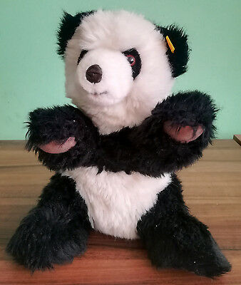 VINTAGE 1980s STEIFF GERMANY BUTTON TAG 0326/32 PLUSH MOLLY PANDA BEAR TOY DOLL