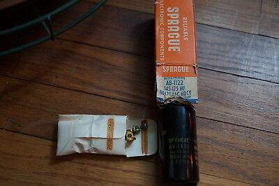 Vintage NOS SPRAGUE Capacitor,145-175 MF @ 110-125 Volts, 60 Cy