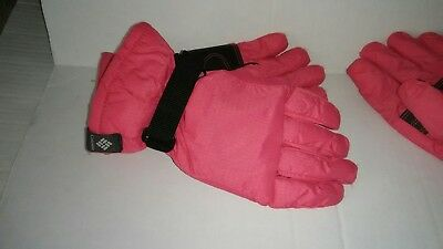 Columbia Winter Gloves Waterproof  Girls Youth Size S Youth PINK