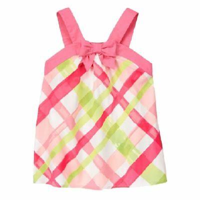 Gymboree Spring Dressy Plaid Top Holiday New NWT Girls 8 Pink Green White Bow