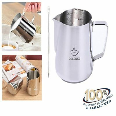 Great Gift for Barista Milk Frothing Foam Tool Pitcher 20 oz with Latte Art Pen