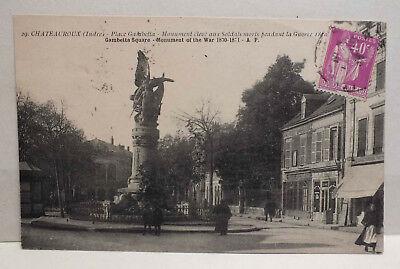 Cpa - Chateauroux - Place Gambetta - Monument Aux Morts - 29